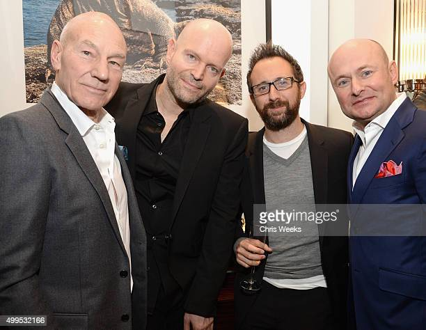 Actor Patrick Stewart executive producer Marc Forster writer Dean Craig and IWC Schaffhausen CEO Georges Kern attend IWC Schaffhausen Rodeo Drive...
