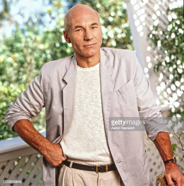 Actor Patrick Stewart poses for a portrait in Los Angeles, California.