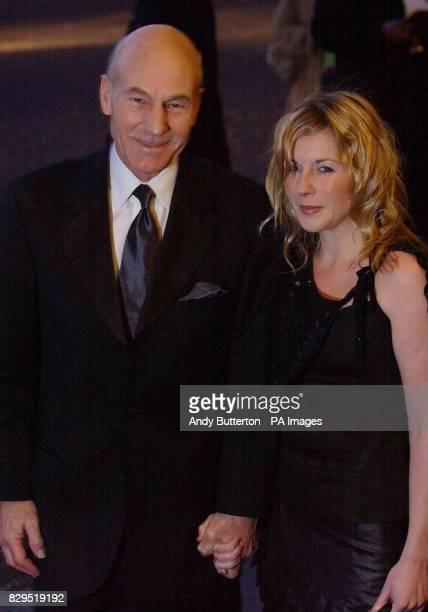 Actor Patrick Stewart with girlfriend Lisa Dillon