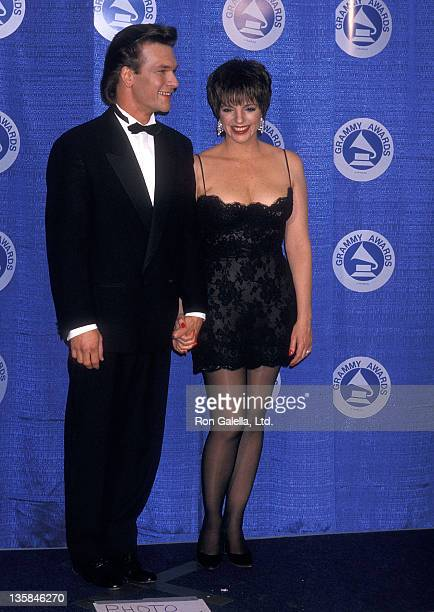 Actor Patrick Swayze and actress/singer Liza Minnelli attend the 30th Annual Grammy Awards on March 2 1988 at Radio City Music Hall in New York City