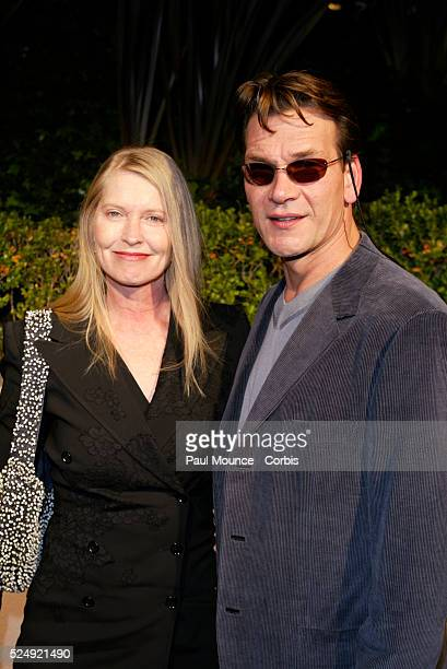 Actor Patrick Swayze and wife Lisa arrive at the Miramax PreOscar 2004 Max Awards party at the StRegis Hotel