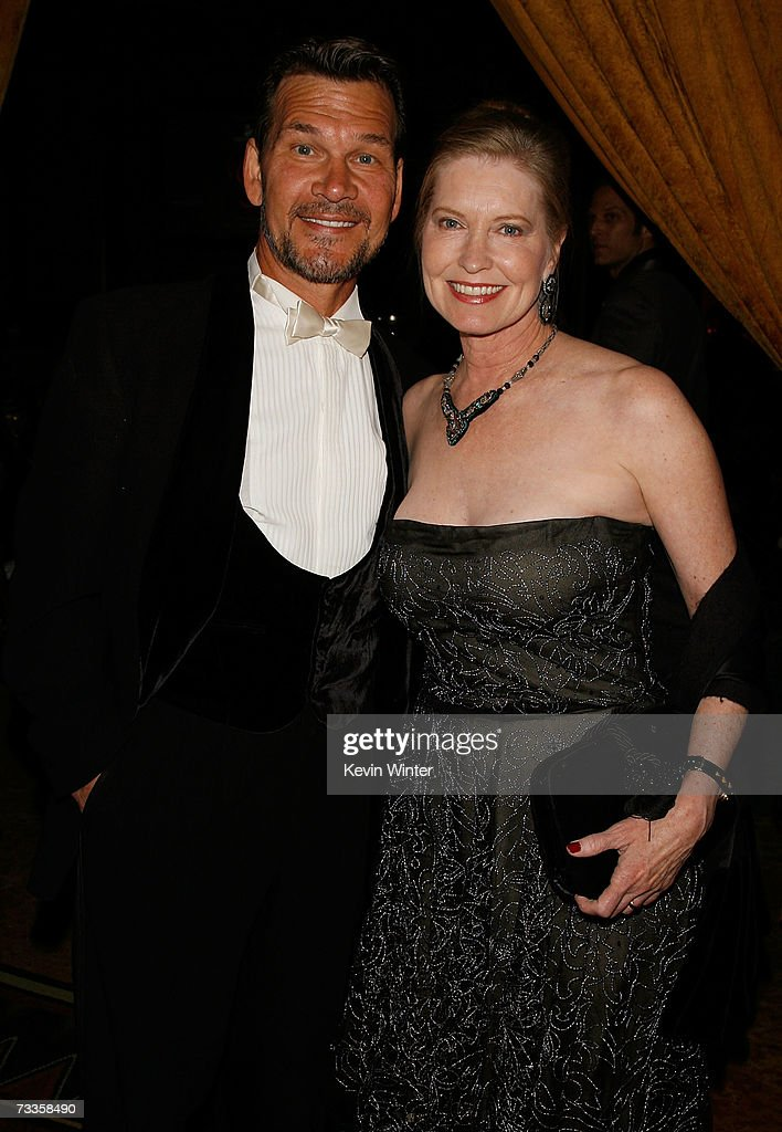 ACCESS* Actor Patrick Swayze (L) and wife Lisa Niemi are seen in the audience during the 9th annual Costume Designers Guild Awards held at the Beverly Wilshire Hotel on February 17, 2007 in Beverly Hills, California.