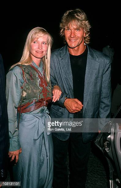 Actor Patrick Swayze and wife Lisa Niemi attend the premiere of Die Hard 2 on July 2 1990 at the Avco Center Cinema in Westwood California