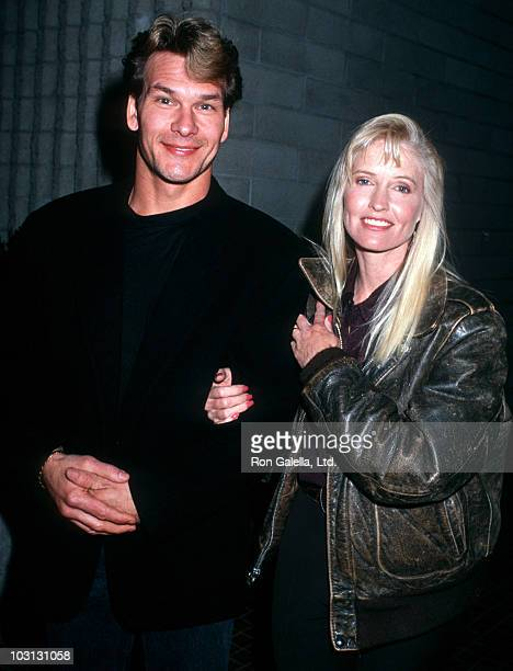 Actor Patrick Swayze and wife Lisa Niemi attend the premiere of Stella on January 31 1990 at the Avco Westwood Theater in Westwood California