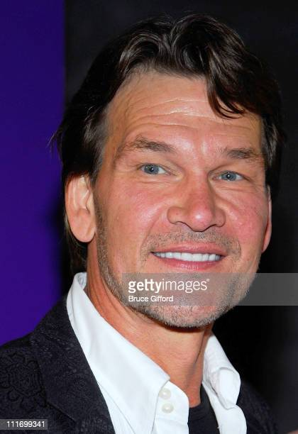 Actor Patrick Swayze arrives at Barbra Streisand's performance at Planet Hollywood Resort Casino Grand Opening Weekend on November 17 2007 in Las...