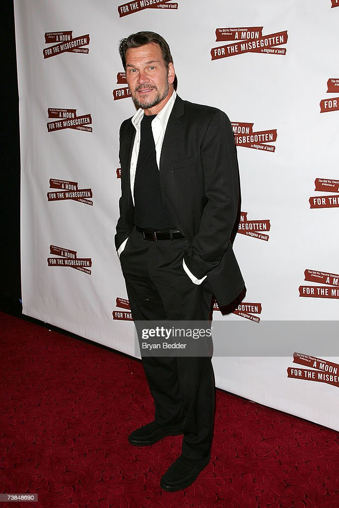 Actor Patrick Swayze arrives at the after party for the opening night of 'A Moon For The Misbegotten' on April 9, 2007 in New York City.
