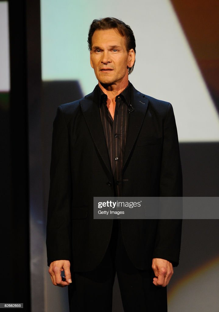 Actor Patrick Swayze attends Stand Up To Cancer at the Kodak Theatre on September 5, 2008 in Hollywood, California.