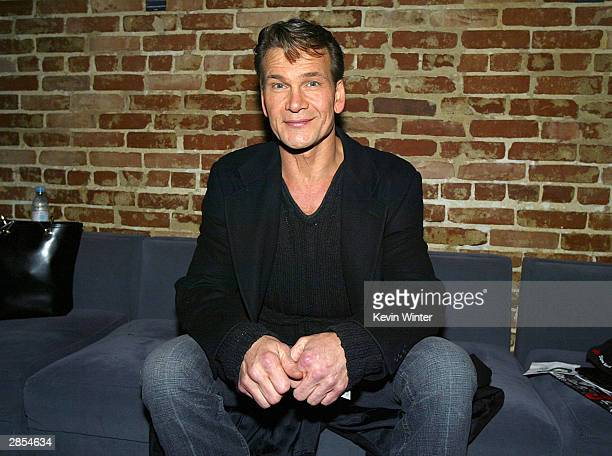 Actor Patrick Swayze attends the afterparty for Chicago The Musical on January 8 2004 at Cinespace in Los Angeles California