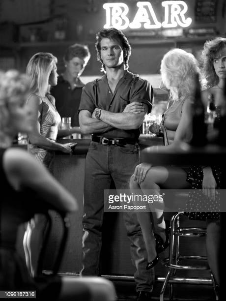 Actor Patrick Swayze poses for a Road House portrait circa 1989 inLos Angeles California