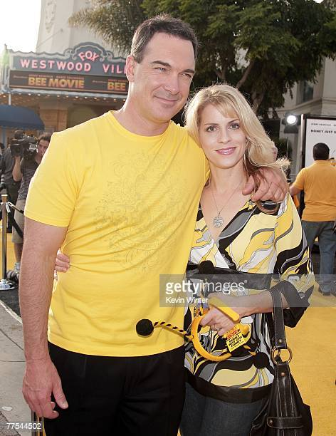 Actor Patrick Warburton and his wife Kathy arrive at the premiere of DreamWorks Animation's Bee Movie at the Mann Village Theatre on October 28 2007...