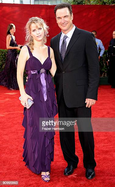 Actor Patrick Warburton and wife Cathy Jennings arrive at the 61st Primetime Emmy Awards held at the Nokia Theatre on September 20 2009 in Los...