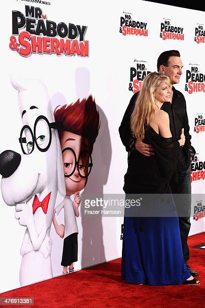 Actor Patrick Warburton and wife Cathy Jennings arrive at the Premiere of Twentieth Century Fox and DreamWorks Animation's Mr Peabody Sherman at...