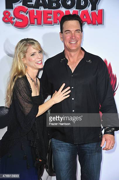 Actor Patrick Warburton and wife Cathy Jennings arrive at the Premiere of Twentieth Century Fox and DreamWorks Animation's 'Mr Peabody Sherman' at...