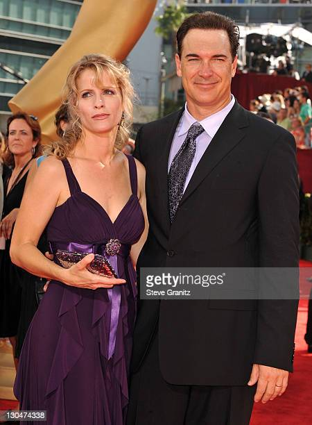 Actor Patrick Warburton and wife Cathy Jennings at the 61st Primetime Emmy Awards held at the Nokia Theatre on September 20 2009 in Los Angeles...