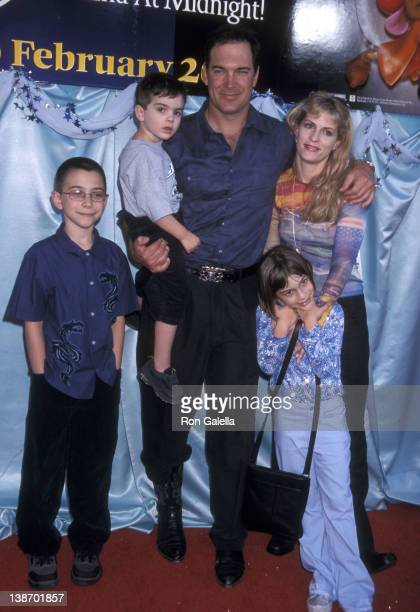 Actor Patrick Warburton wife Cathy Jennings and kids Talon Warburton Alexandra Warburton Shane Warburton and Gabriel Warburton attend the Cinderella...