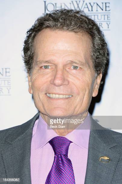 Actor Patrick Wayne arrives at The John Wayne Cancer Institute Auxiliary Annual Awards Luncheon at Beverly Hills Hotel on October 18 2012 in Beverly...