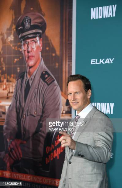 US actor Patrick Wilson arrives for the premiere of Lionsgates' Midway at the Regency Village Theatre in Westwood California on November 5 2019