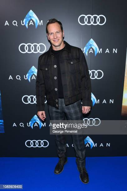 Actor Patrick Wilson attends the Aquaman exclusive blue carpet fan screening held at the Scotiabank Theatre on December 17 2018 in Toronto Canada