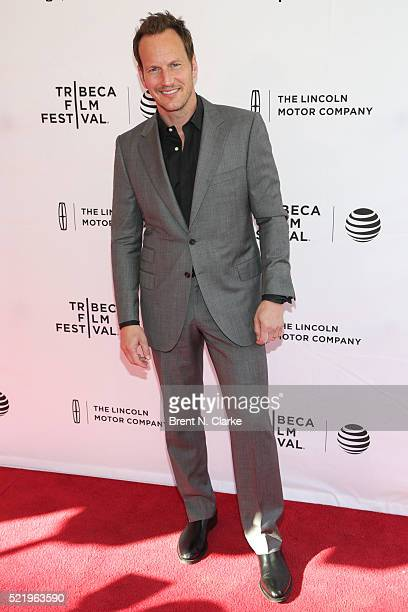 Actor Patrick Wilson attends the world premiere of 'A Kind of Murder' during the 2016 Tribeca Film Festival held at the SVA Theatre 2 on April 17...