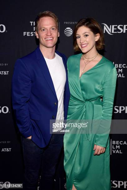 Actor Patrick Woodall and actress Caitlin McGee attend the Tribeca Film Festival AfterParty For Standing Up Falling Down Hosted By Nespresso at...
