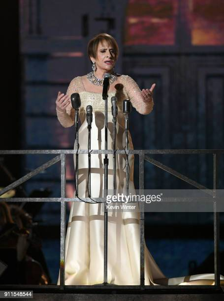 Actor Patti LuPone onstage during the 60th Annual GRAMMY Awards at Madison Square Garden on January 28 2018 in New York City