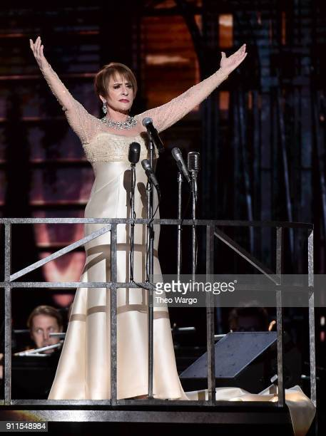 Actor Patti LuPone performs onstage during the 60th Annual GRAMMY Awards at Madison Square Garden on January 28 2018 in New York City