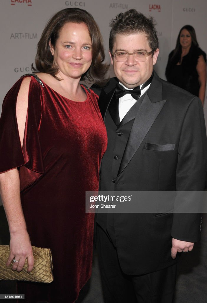 Actor Patton Oswalt (R) and Michelle Eileen McNamara attend LACMA Art + Film Gala Honoring Clint Eastwood and John Baldessari Presented By Gucci at Los Angeles County Museum of Art on November 5, 2011 in Los Angeles, California.