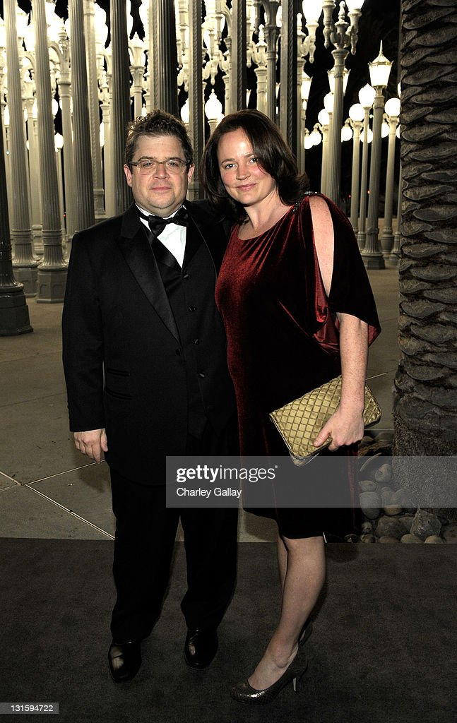 Actor Patton Oswalt (L) and Michelle Eileen McNamara attend LACMA Art + Film Gala Honoring Clint Eastwood and John Baldessari Presented By Gucci at Los Angeles County Museum of Art on November 5, 2011 in Los Angeles, California.