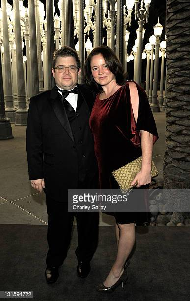 Actor Patton Oswalt and Michelle Eileen McNamara attend LACMA Art Film Gala Honoring Clint Eastwood and John Baldessari Presented By Gucci at Los...