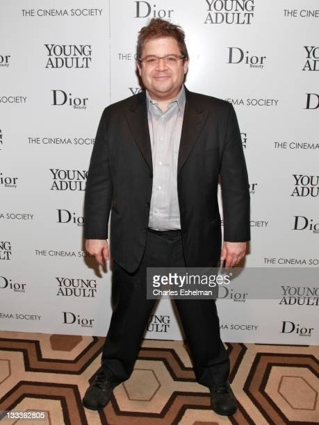 Actor Patton Oswalt attends The Cinema Society Dior Beauty screening of Young Adult at the Tribeca Grand Screening Room on November 18 2011 in New...