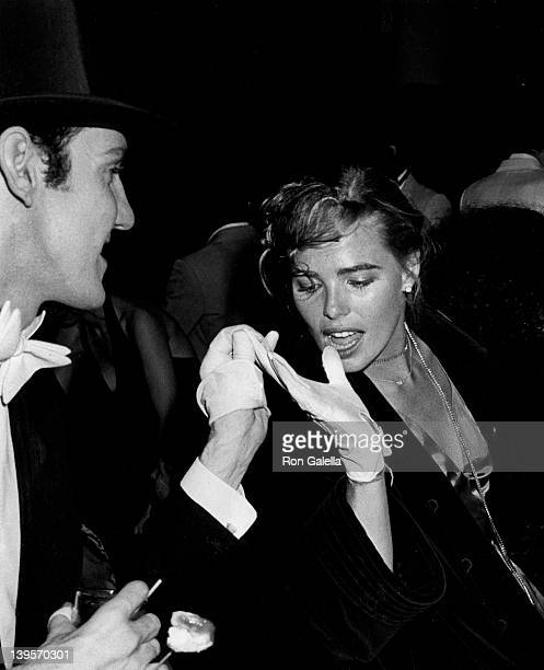 Actor Paul Bakers and actress Margaux Hemingway attend Coty Awards Party on September 28 1978 at Studio 54 in New York City