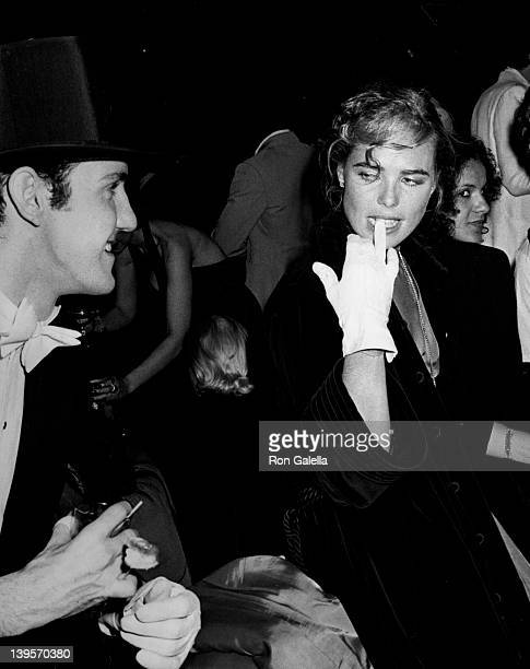 Actor Paul Bakers and actress Margaux Hemingway attend Coty Awards Party on September 28, 1978 at Studio 54 in New York City.