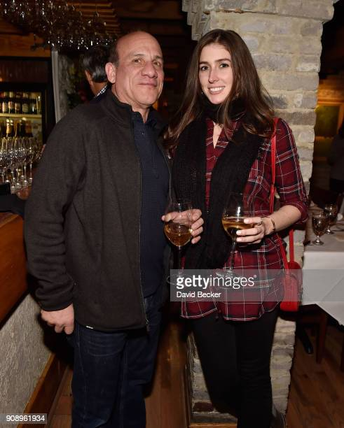 Actor Paul BenVictor and Cali Senkpiel attend the 'Monster' dinner film reception presented by the RAND Luxury Escape at Grappa during the 2018...