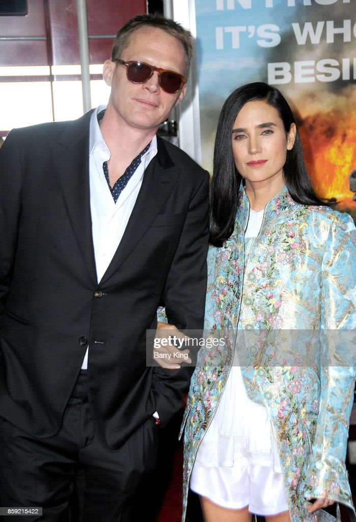 Actor Paul Bettany and actress Jennifer Connelly attend the premiere of Columbia Pictures' 'Only The Brave' at Regency Village Theatre on October 8, 2017 in Westwood, California.
