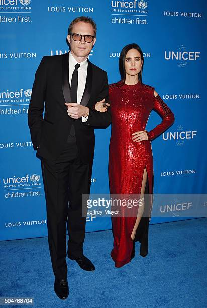 Actor Paul Bettany and wife/actress Jennifer Connelly arrive at the 6th Biennial UNICEF Ball at the Beverly Wilshire Four Seasons Hotel on January 12...
