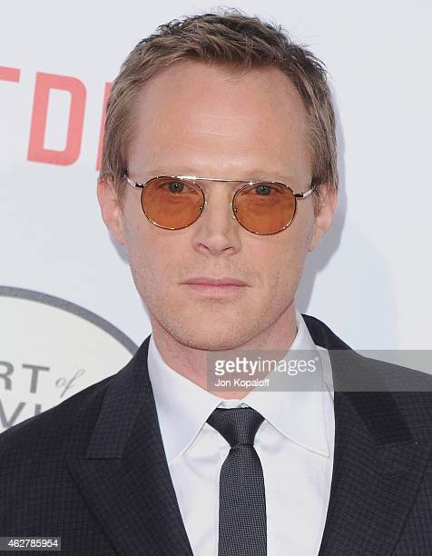 Actor Paul Bettany arrives at the Los Angeles Premiere Of Mortdecai at TCL Chinese Theatre on January 21 2015 in Hollywood California