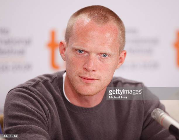 Actor Paul Bettany attends the 'Creation' press conference during the 2009 Toronto International Film Festival held at Sutton Place Hotel on...