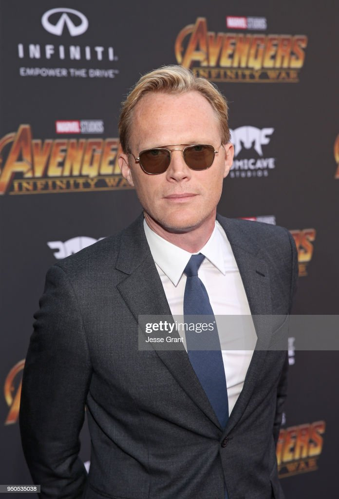 Actor Paul Bettany attends the Los Angeles Global Premiere for Marvel Studios' Avengers: Infinity War on April 23, 2018 in Hollywood, California.