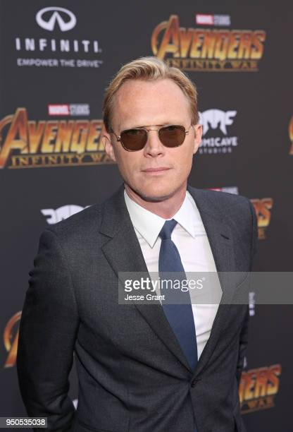Actor Paul Bettany attends the Los Angeles Global Premiere for Marvel Studios' Avengers Infinity War on April 23 2018 in Hollywood California