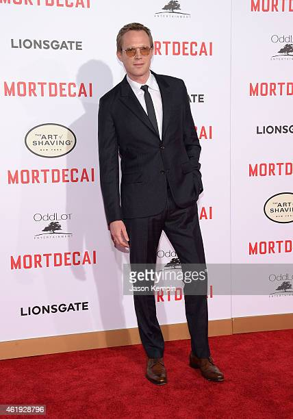 Actor Paul Bettany attends the premiere of Lionsgate's Mortdecai at TCL Chinese Theatre on January 21 2015 in Hollywood California