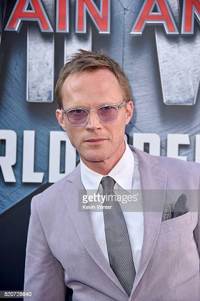 Actor Paul Bettany attends the premiere of Marvel's 'Captain America Civil War' at Dolby Theatre on April 12 2016 in Los Angeles California