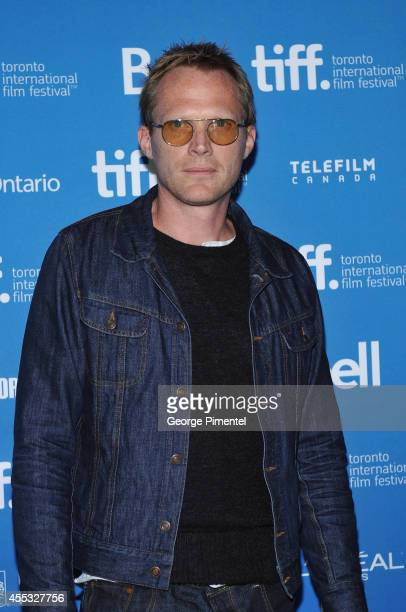 Actor Paul Bettany attends the 'Shelter' Press Conference during the 2014 Toronto International Film Festival at TIFF Bell Lightbox on September 12...