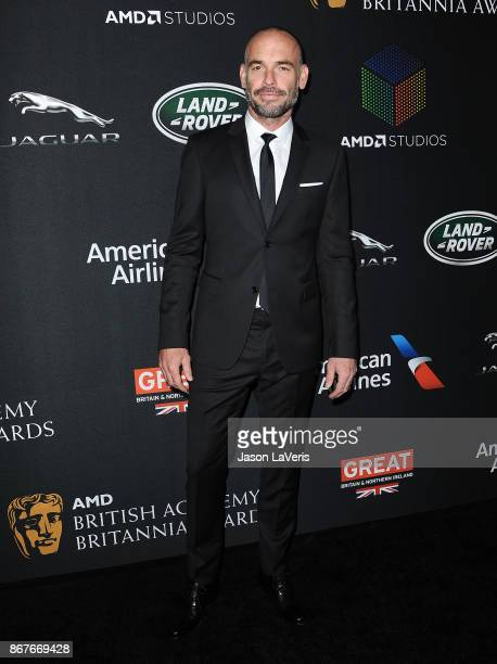 Actor Paul Blackthorne attends the 2017 AMD British Academy Britannia Awards at The Beverly Hilton Hotel on October 27 2017 in Beverly Hills...