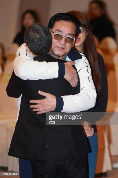 Actor Paul Chun attends the memorial service for Hong Kong film and television producer Mona Fong on December 12 2017 in Hong Kong China