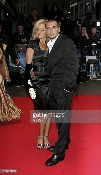 Actor Paul Danan and Nicci Legg arrive at the World Premiere of 'Three' at Odeon West End on May 2 2006 in London England
