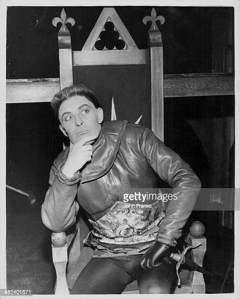 Actor Paul Daneman is costume as 'Richard III' during a dress rehearsal at the Old Vic Theatre London March 5th 1962