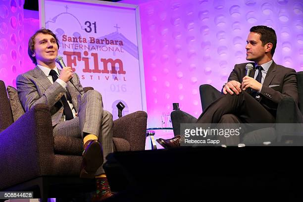 Actor Paul Dano and Moderator Dave Karger speak at the Virtuosos Award at the Arlington Theater at the 31th Santa Barbara International Film Festival...