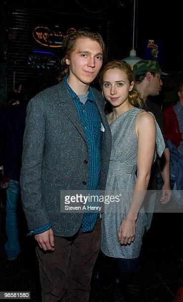 Actor Paul Dano and Zoe Kazan attend 'The Good Heart' New York premiere at Landmark's Sunshine Cinema on April 20 2010 in New York City