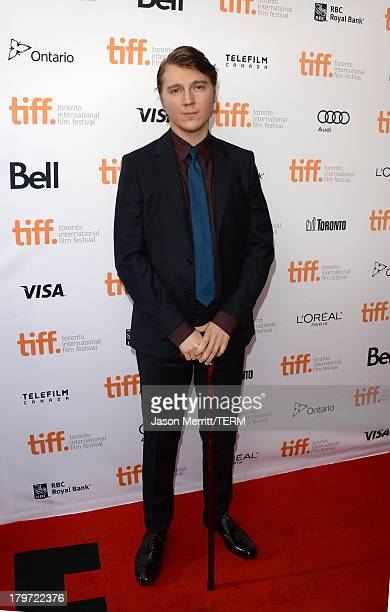 Actor Paul Dano arrives at the 12 Years A Slave Premiere during the 2013 Toronto International Film Festival Princess of Wales Theatre on September 6...