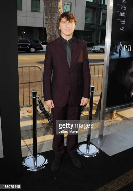 Actor Paul Dano arrives at the 'Prisoners' Los Angeles Premiere at the Academy of Motion Picture Arts and Sciences on September 12 2013 in Beverly...